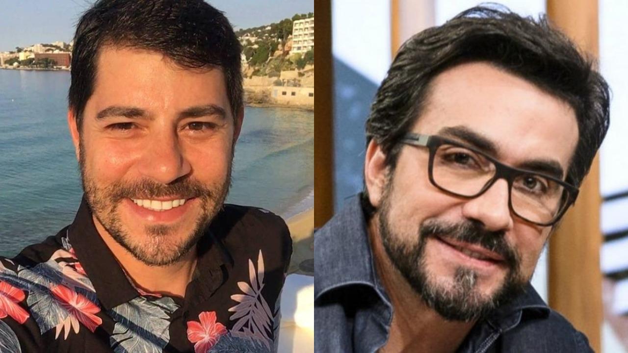 Evaristo Costa e Padre Fábio de Melo (Foto: Montagem/TV Foco)
