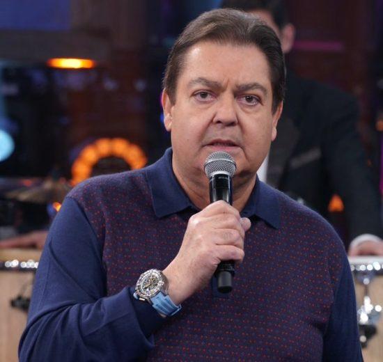 Faustão no comando de seu programa na Globo (Foto: Reprodução)