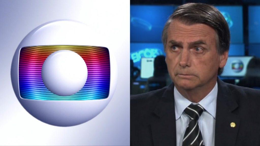 Globo e Bolsonaro (Foto: Montagem/TV Foco)
