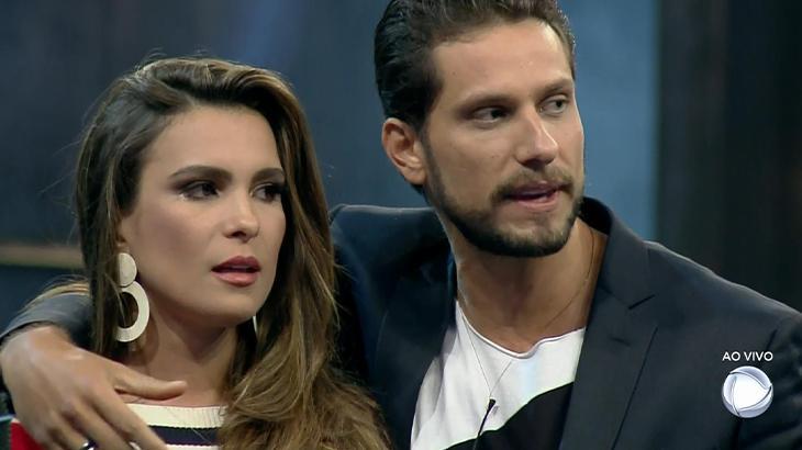 Kamilla e Elieser foram eliminados do Power Couple após se envolverem em polêmica (Imagem: Reprodução/Record)