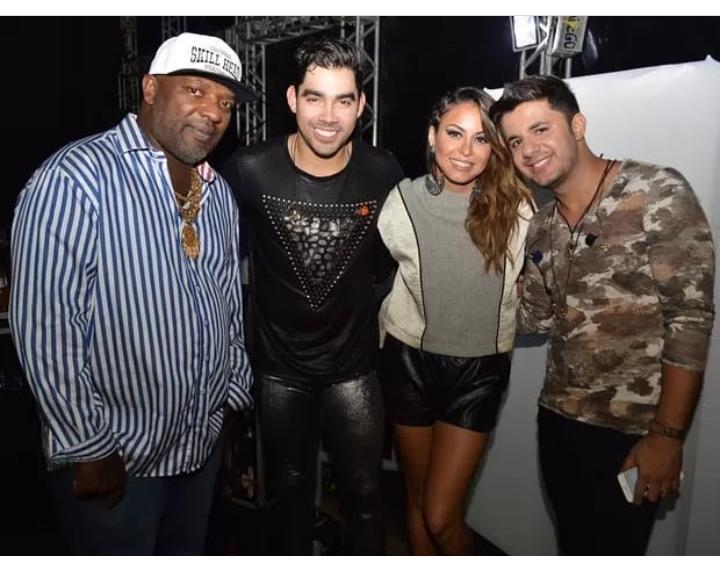 MC Catra, Gabriel Diniz, Alinne Rosa e Cristiano Araújo (Foto: Reprodução/Twitter)