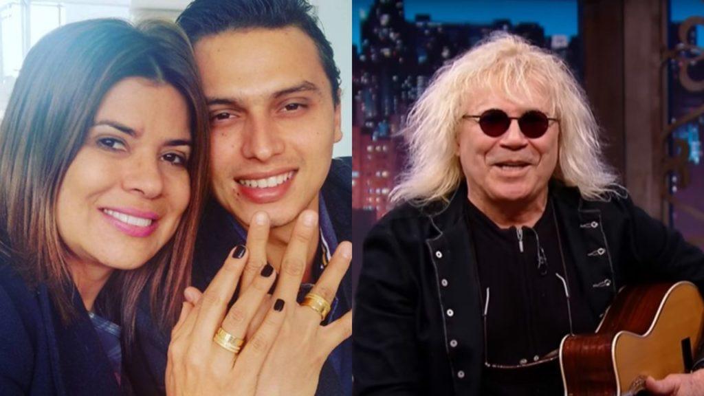 Mara Maravilha e Gabriel Torres; Ovelha participou do Silvio Santos (Foto: Montagem/TV Foco)