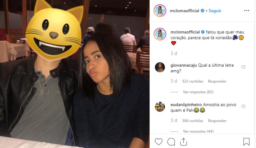 82a8903f5 MC Loma com o seu namorado secreto (Foto Reprodução Instagram)