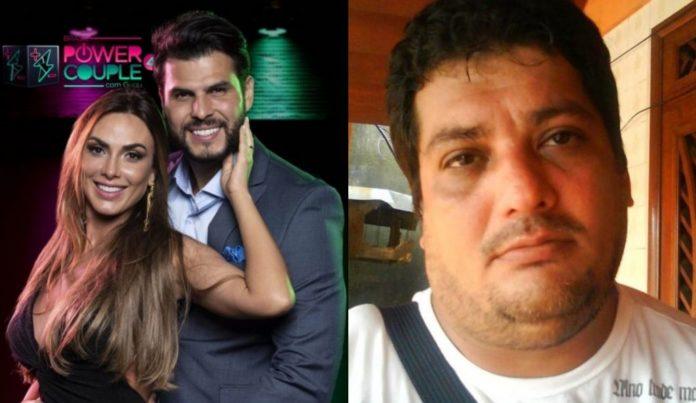Nicole Bahls e Marcelo Bimbi e o irmão do empresário