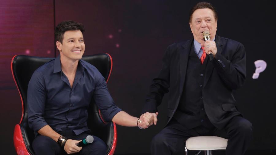 Os apresentadores Rodrigo Faro e Raul Gil (Foto: Rodrigo Belentani/SBT)