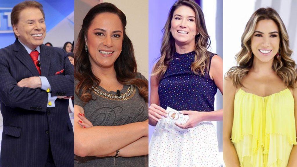 Silvio Santos, Silvia Abravanel, Rebeca Abravanel e Patrícia Abravanel; briga (Foto: Divulgação/SBT)