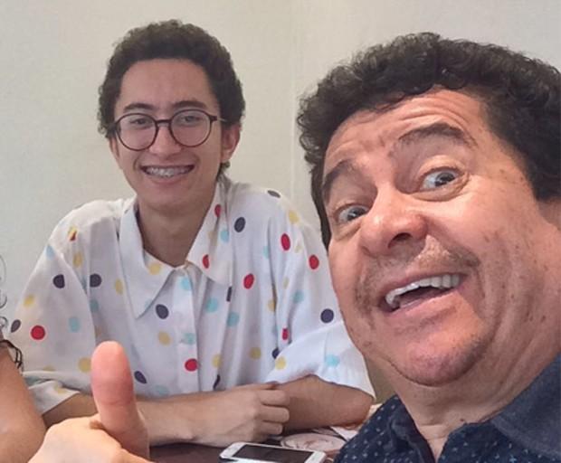 Solimões e o filho Gabeu (Foto: Instagram)