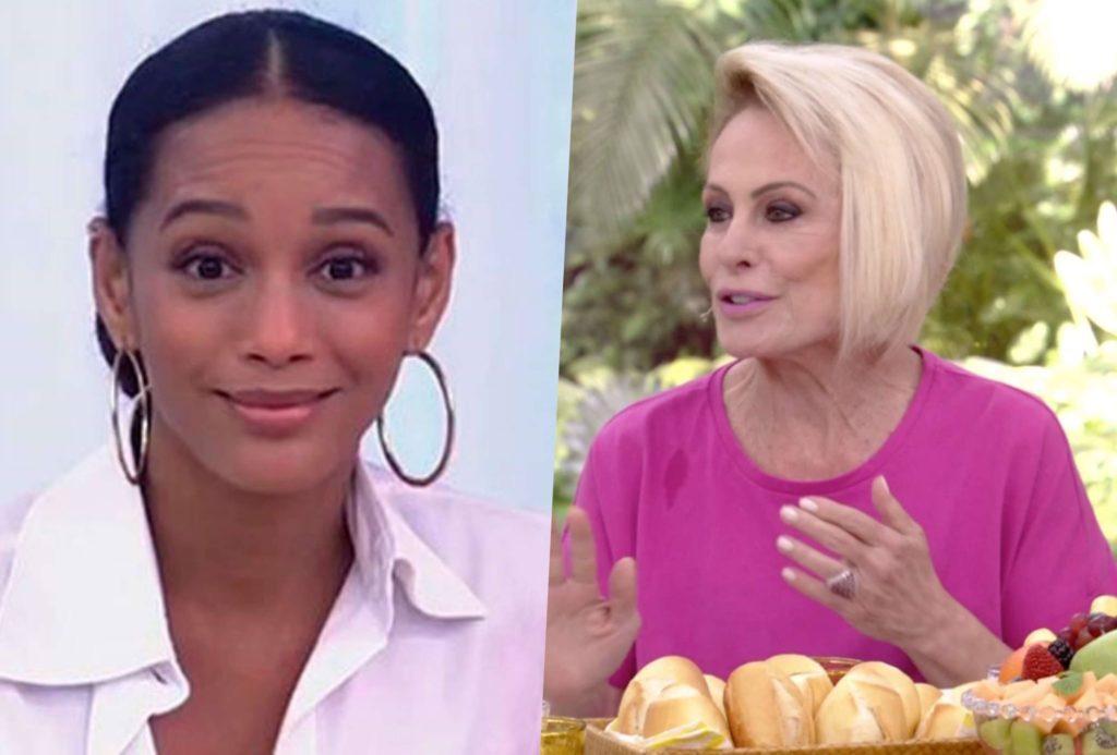 Ana Maria Braga e Taís Araújo viveram um climão ao vivo na TV (Foto reprodução)