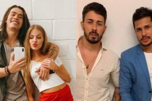 Whindersson Nunes e Luísa Sonza, Carlinhos Maia e Lucas Guimarães (Foto: Montagem/TV Foco)