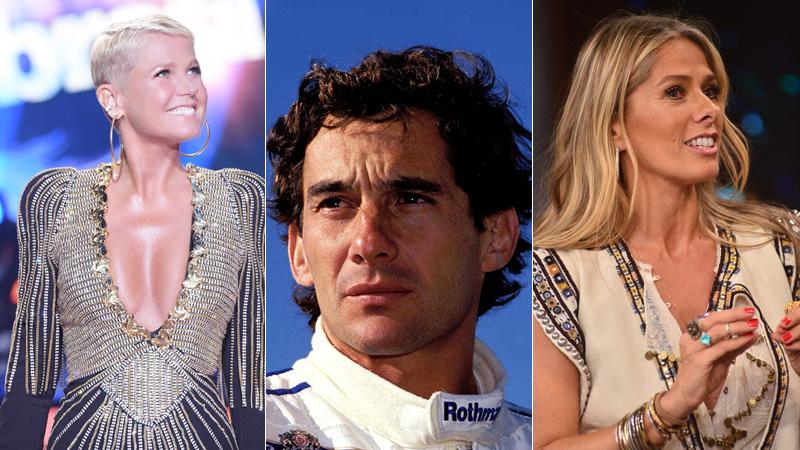 Xuxa Meneghel, Ayrton Senna e Adriane Galisteu (Foto: Reprodução)