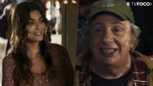 Maria da Paz (Juliana Paes) salvará a vida de Eusébio (Marco Nanini) que será eternamente grato em A Dona do Pedaço da Globo