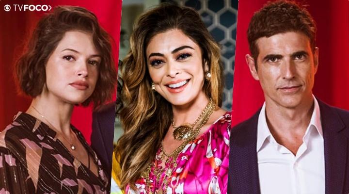 Régis (Reynaldo Gianecchini) ficará dividido entre Maria da Paz (Juliana Paes) e Josiane (Agatha Moreira) na trama da Globo A Dona do Pedaço