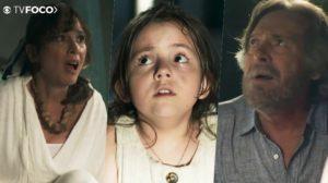 Virgínia (Duda Batista) é encontrada por Beatriz (Natalia do Vale) e Otávio (José de Abreu) em A Dona do Pedaço da Globo