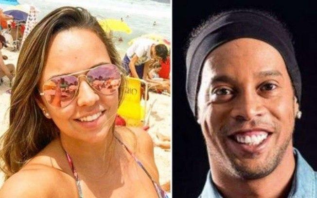 Priscilla Coelho e Ronaldinho Gaúcho (Foto: Montagem)