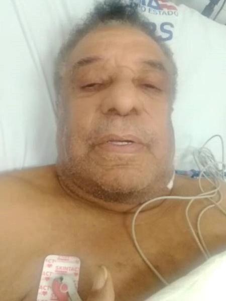 Antes de receber a carta de Lula, Agnaldo Timóteo havia feito um vídeo na cama do hospital afirmando estar bem Foto: Reprodução