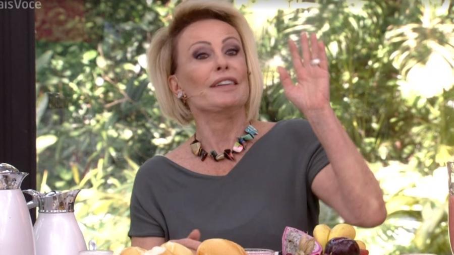 Ana Maria Braga recebe visita indesejada no Mais Você na Globo