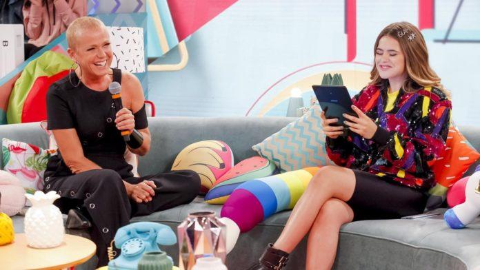 SBT esconde Xuxa da Record nas chamadas do Programa da Maisa (Reprodução: SBT)