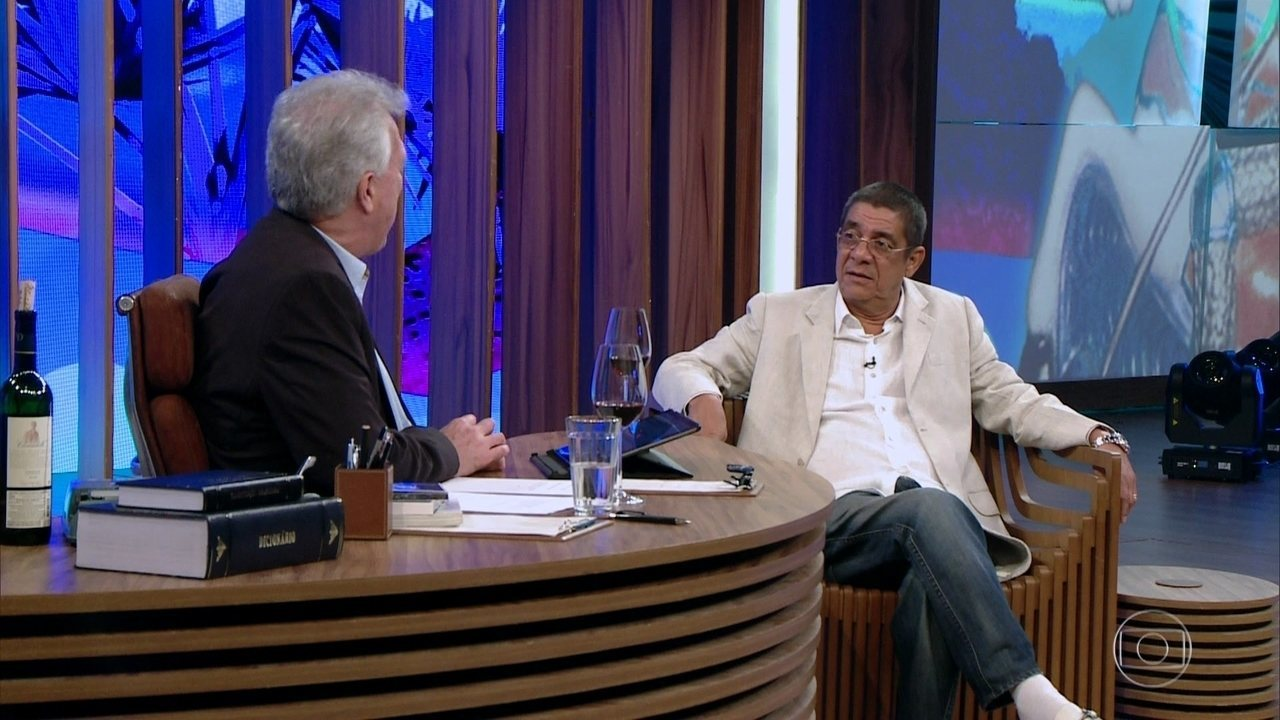Zeca Pagodinho participa do programa do Bial e faz revelações Foto: Reprodução