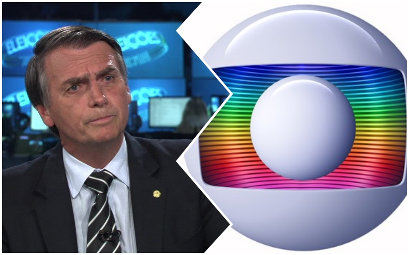 Bolsonaro provoca briga da Globo contra SBT e Record e emissora carioca contra-ataca Foto: Reprodução