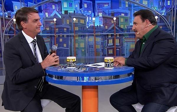 Jair Bolsonaro e o apresentador Ratinho (Reprodução: SBT)