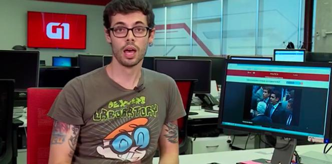 Cauê Fabiano está a frente do G1 em 1 Minuto e aparece constantemente na programação da Globo