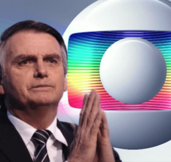 O presidente Jair Bolsonaro e a Globo (Foto: Reprodução)