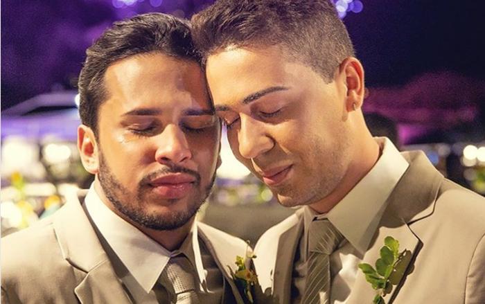 Lucas Guimarães eCarlinhos Maia no casamento (Foto: Reprodução/Instagram)