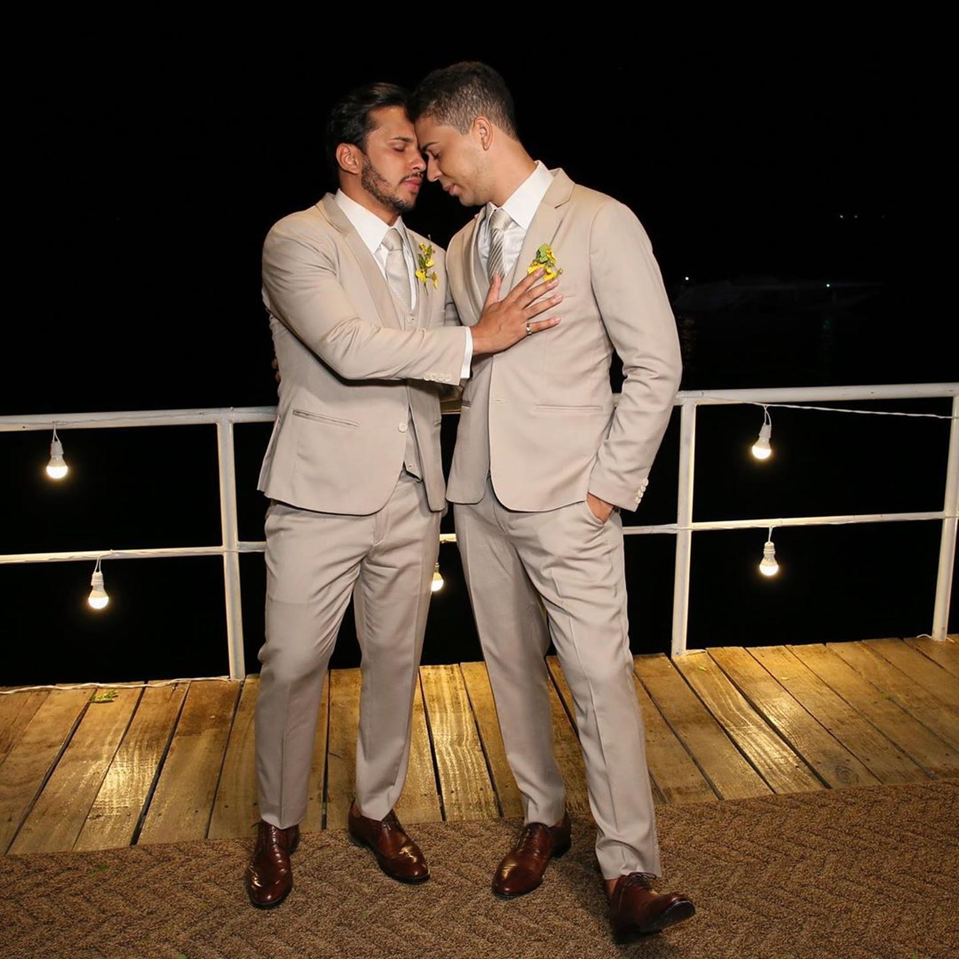 Carlinhos Maia e Lucas Guimarães casados — Foto: Davi Nascimento/Reprodução/Instagram