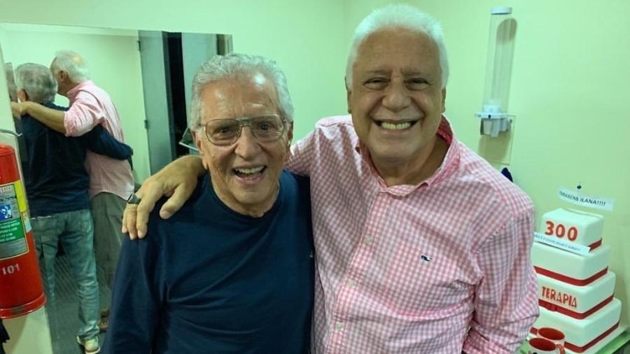 Antônio Fagundes e Carlos Alberto de Nóbrega do SBT