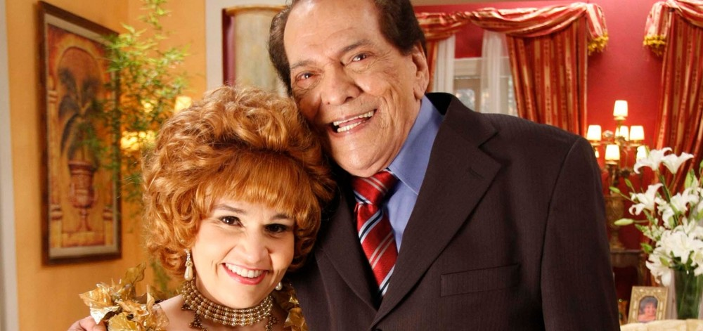 Claudia de Souza Rodrigues e Lúcio Mauro trabalharam juntos no Zorra Total (Foto: TV Globo)