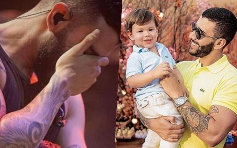 Gusttavo Lima é surpreendido por atitude inesperada do filho em show; a criança de apenas 1 ano subiu no palco Foto: Reprodução