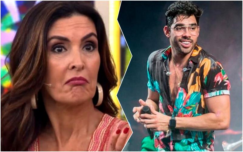 Fátima Bernardes faz amigo de Gabriel Diniz ir aos prantos com homenagem no Encontro da Globo Foto: Reprodução