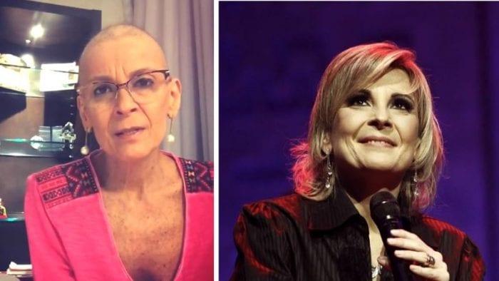 Cantora Ludmila Ferber durante o tratamento contra o câncer (Foto: Reprodução)