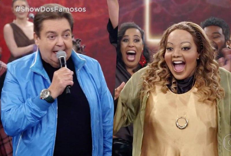 Ludmilla voltou ao palco do Domingão do Faustão (Foto: Reprodução/Montagem TV Foco)