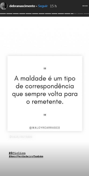 Publicação de Débora Nascimento (Foto: Reprodução/ Instagram)