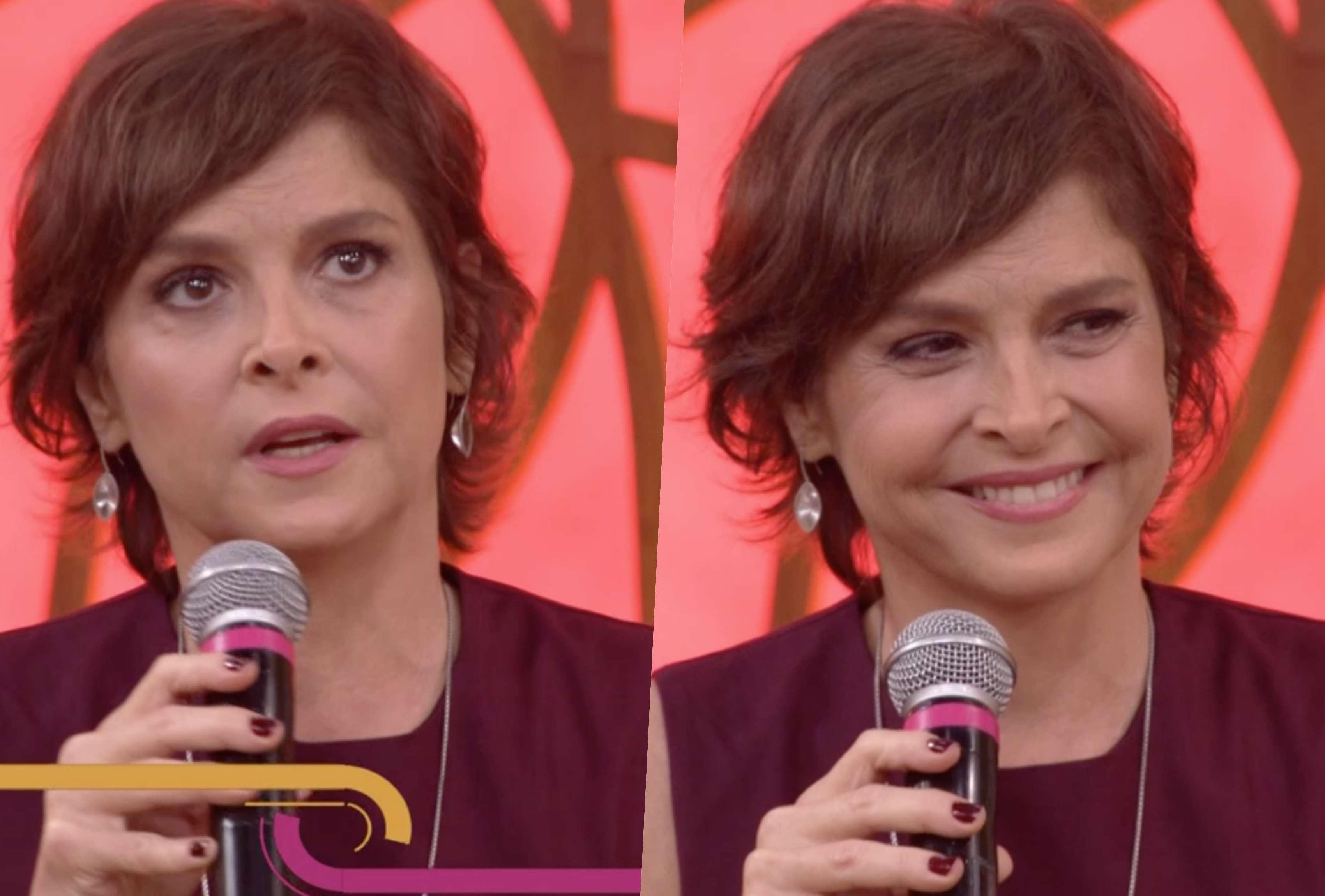 Drica Moraes fez um relato emocionante durante o encontro na Globo