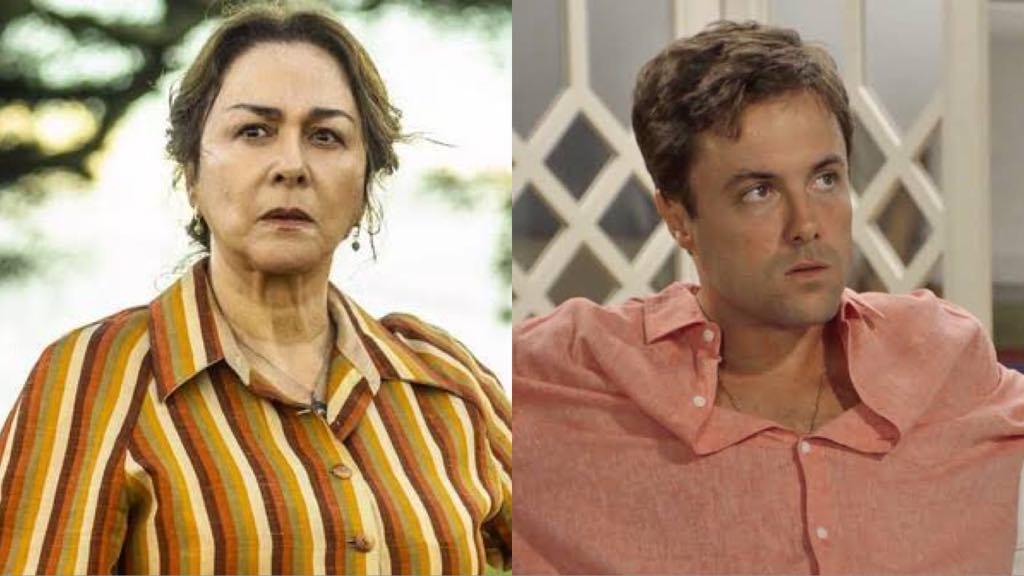 Evelina de A Dona do Pedaço e Candé da novela Verão 90 (Foto: Montagem/TV Foco)
