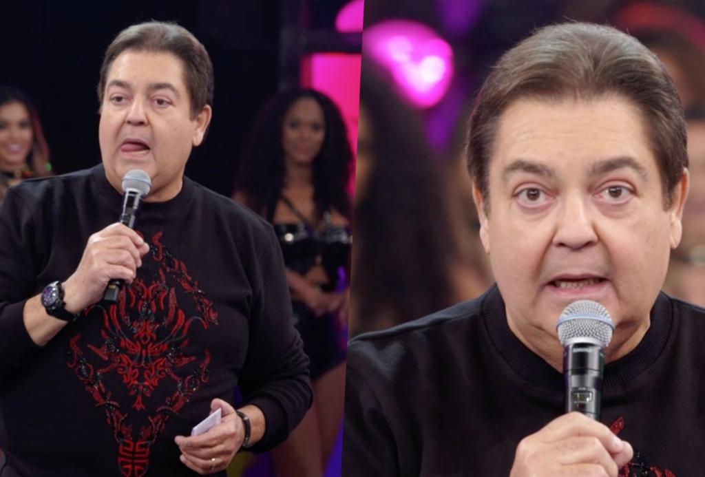 Faustão quebrou protocolo e revelou podres do Arquivo Confidencial ao vivo na Globo (Foto reprodução)