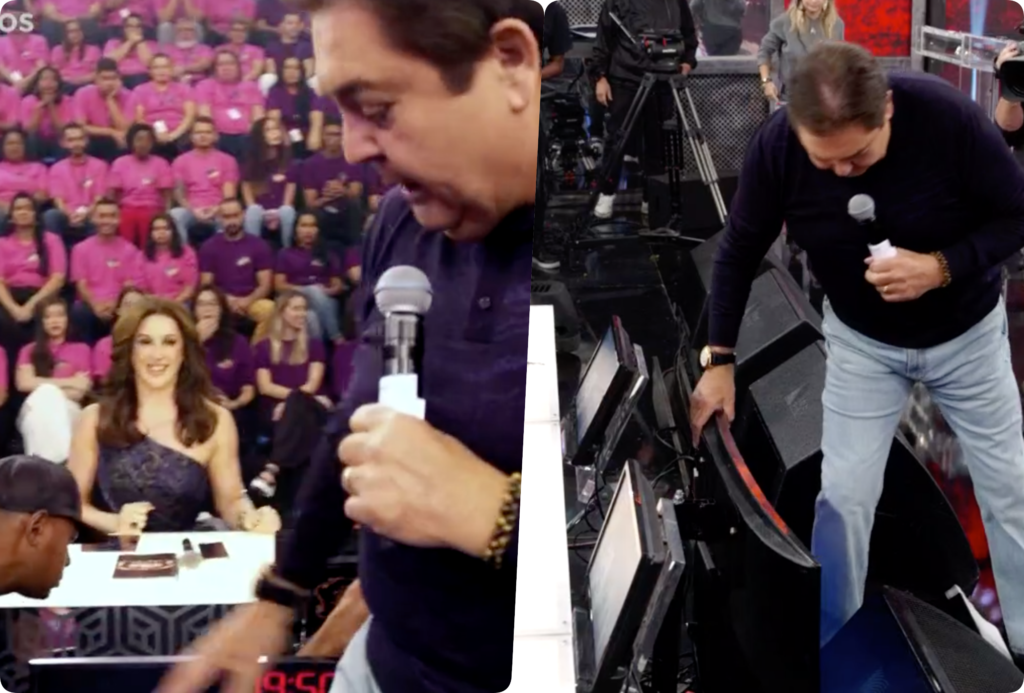 Faustão se revoltou ao vivo na Globo (Foto reprodução)