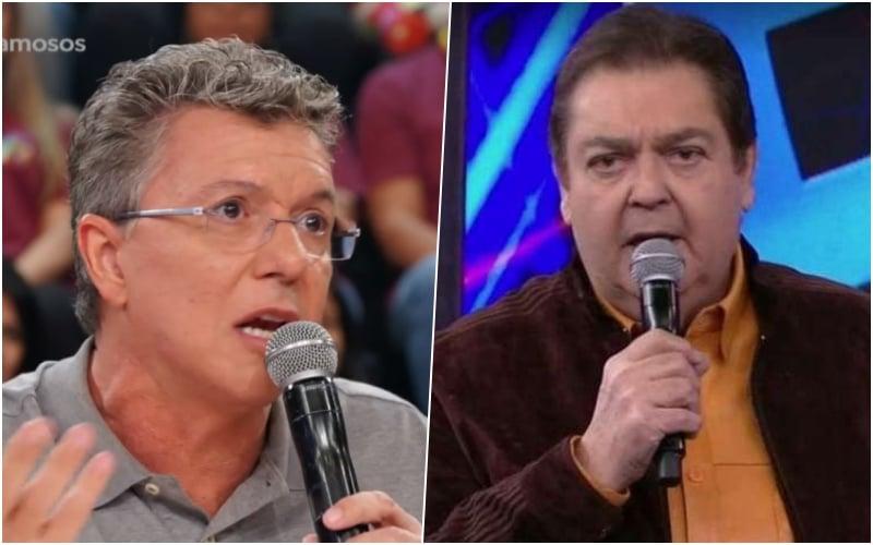 Boninho e Faustão travaram mais um empate no Domingão do Faustão (Foto: Divulgação/ Globo)