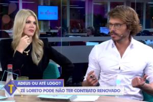 Val Marchiori com Franklin David no programa Tricotando (Foto: Reprodução/RedeTV)