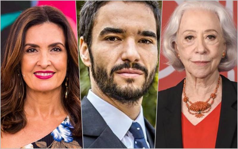 Nomes como Fernanda Montenegro, Caio Blat, Fátima Bernardes estão em risco.Foto: Reprodução