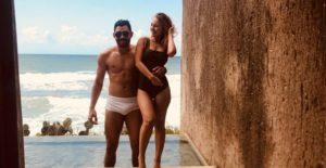Gabriel Diniz com a namorada, Karoline Calheiros — Foto: Reprodução/Instagram
