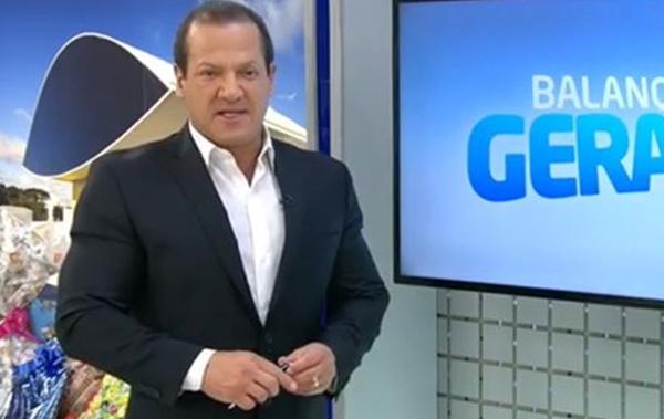 Gilberto Ribeiro foi impedido de se despedir do público da Record em Curitiba, onde apresentava o Balanço Geral (Foto: Reprodução/RICTV/Record)