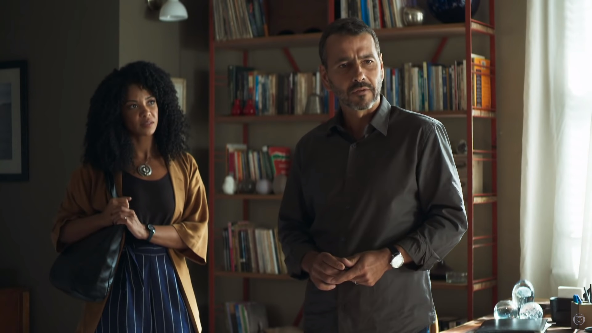 Amadeu (Marcos Palmeira) em cena na novela das nove A Dona do Pedaço