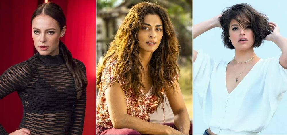 Paolla Oliveira (Vivi), Juliana Paes (Maria da Paz) e Agatha Moreira (Josiane) estrelarão A Dona do Pedaço, de Walcyr Carrasco