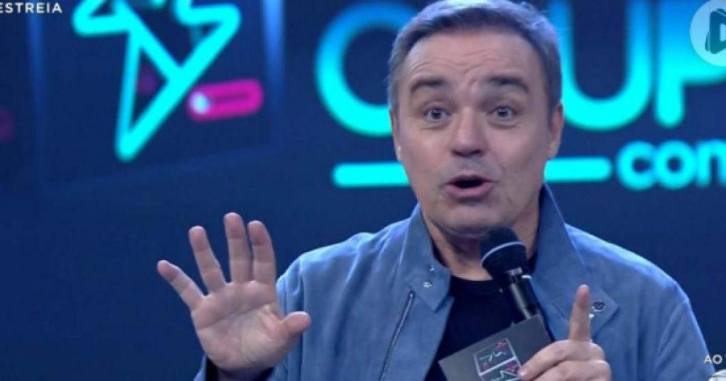 O apresentador do Power Couple Brasil da Record, Gugu Liberato sofreu um acidente (Foto: Reprodução)