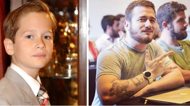 O ator Guilherme Vieira, que fez várias novelas na Globo, quando criança (Foto: Reprodução/Instagram)
