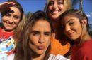 Hariany Almeida, a campeã Paula Sperling, Carol Peixinho e Isabella Cecchi em