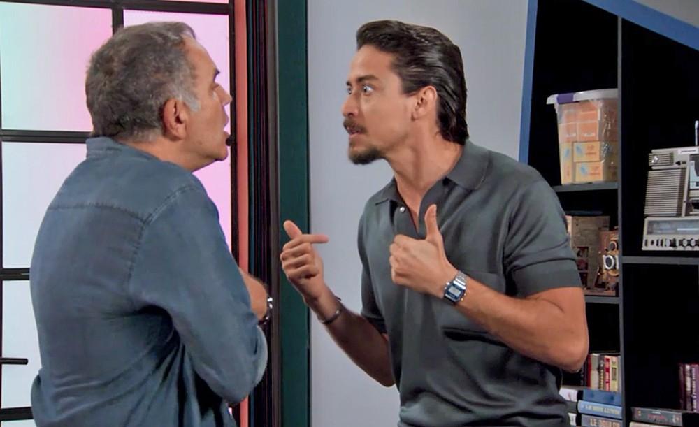 Clima entre Jerônimo (Jesuíta Barbosa) e Herculano (Humberto Martins) esquentará na trama Verão 90 da Globo (Foto: Reprodução)